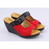 Catenzo Sepatu Wedges AYx594 Red Black