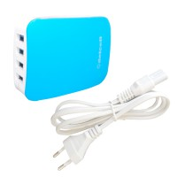 Delcell Adaptor Charger 4 Port USB 6A Smart Charger