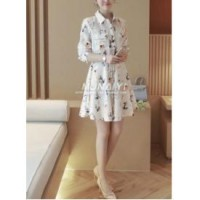 Modelling Print Dress (size L,M,S)-12583