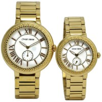 Christ Verra Jam Tangan Couple Gold Stainless Steel CV67184G-12&CV67184L-12