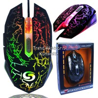 Sturdy GM038 Gaming Mouse 6D USB with 8 Colors Changing LED - Hitam