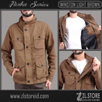 JAKET PARKA PREMIUM WINSTON LIGHT BROWN ZL.STORE
