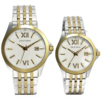 Christ Verra Jam Tangan Couple Silver Gold Stainless Steel CV70139G-13&CV7140L-13
