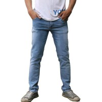 2nd RED 133201 Jeans Slim Fit Spray- Light Blue