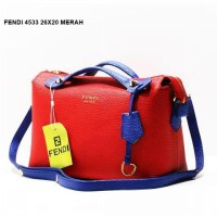 TAS/ BAG FASHION WANITA FENDI 4533 super BRANDED TERMURAH #merah