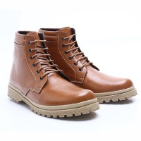 Dr.Kevin Ladies Leather Boot Shoes 4017 Camel