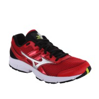 SEPATU RUNNING MIZUNO MIZUNO SPARK - CHINESE RED / SILVER / LIME PUNCH K1GA160303 READY39SD46