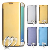 Clear View Flip Smart Cover Flip Case Mirror Casing Sarung For Samsung Galaxy S6