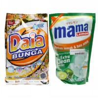 PAKET Bundle MAMA LEMON JERUK NIPIS 800 mL + DAIA DETERJEN 1800 Gr