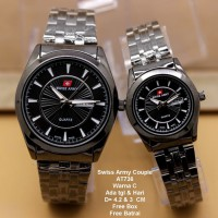 Jam Tangan Pasangan / Couple Murah Swiss Army Danera Full Black Color