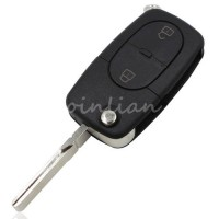 [globalbuy] 2 BUTTON FOLDING FLIP REMOTE KEY BLANK FOB CASE SHELL PAD FOR WITH LOGO AUDI A/4302178