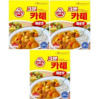 [poledit] Ottogi 3 Minute Curry Spicy Flavor, Product of Korea 6.7 Oz Each: 3 Packs (T1)/13657121