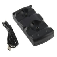 USB Dual Charger Charging Dock Station for PlayStation 3 PS3 Move and Stick Controller