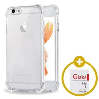 [1+1] PAKET HEMAT Softcase Anti Crack / Anti Shock   Tempered Glass