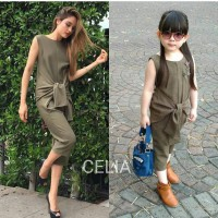 OLIVE GREEN JUMPSUIT AVAILABLE MOM & KIDS - FOR MOM ORIGINAL IMPORT