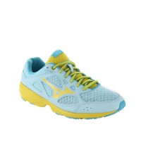 SEPATU RUNNING MIZUNO PRIMA VIVO (W) - CLEAR WATER / CYBER YELLOW / BLUE ATOLL J1GH152945