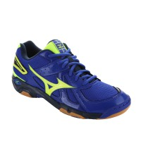 SEPATU VOLLEY/VOLI MIZUNO WAVE TWISTER 4 - SURF THE WEB / NEON YELLOW / DRESS BLUES V1GA157045
