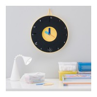 IKEA (R) - PLADDRA, Wall clock, Blackboard: Can Write or Draw Pictures Kids Learn Time 35cm