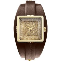 [poledit] Vivienne Westwood - Cube II - Gold Dial - Brown Leather Women`s watch - VV008GDB/12434911