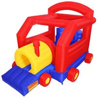 [poledit] Cloud 9 Choo Choo Train Bounce House - Inflatable Bouncer with Tunnel, Slide and/13504532