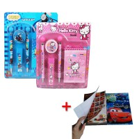 1+1 Study set + Buku tulis l Karakter Kartun Disney Frozen/Hello Kitty