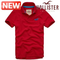 Hollister Polo T // DC-321-364-0348-050 // Wipeout Beach Polo RED // Men