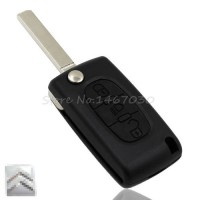 [globalbuy] 3 Buttons Remote Flip Folding Key Case Fob Shell Blade Without Groove With Bat/4318376