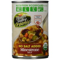 [macyskorea] Health Valley Organic No Salt Added Soup, Minestrone, 15 Ounce (Pack of 12)/8885770