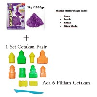 Delima Mainan pasir Kinetic Sand Glitter Set / Sand & Mold
