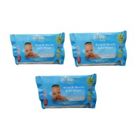 Pure Baby Hand & Mouth Baby Wipes 10'S Buy 2 Get 1 Free - Aloe Vera