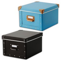IKEA (R) - Fjalla Paper Box With Lid 22x27x16 cm MultiColours, with Label Holders & Easy to Pull