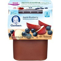 [poledit] Gerber Purees 2nd Foods, Apple Blueberry, 8 Ounce (Pack of 8) (T2)/13104118
