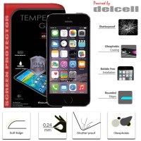 iPhone 5 - 5S - SE - iPhone 5C Delcell Tempered Glass Antigores Screenguard