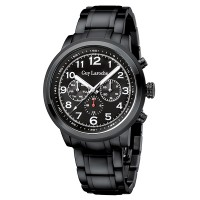 Moment watch - Guy Laroche G3012-05 - jam tangan pria - stainlles steel - Hitam