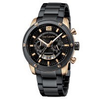 Moment watch - Guy Laroche G3010-06 - jam tangan pria - stainlles steel - hitam