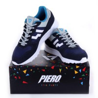 PIERO Sepatu Lari Casual JOGGER PREMIUM BLUEBERRY PIE - INSIGNIA BLUE/GREY P20188