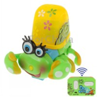 Radio Control Lovely Crab Toy with LED Light (Green)