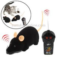Electronic Fun Mini Mice Prank Toy with Remote Control (Black)