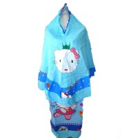 Mukena Kartun Hello Kitty Biru M