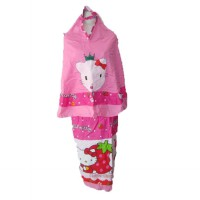 Mukena Kartun Hello Kitty Pink S