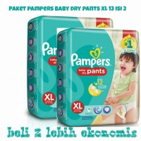 Paket Isi 2 Pampers Baby Dry Pants XL 13