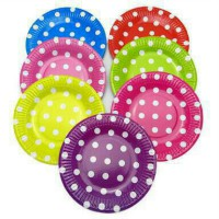 Piring Happy Birthday Motif Polkadot