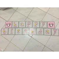 Banner/Flag Happy Birthday Motif Minnie Mouse