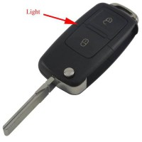 [globalbuy] 20ps/LOT 2 Buttons Remote Flip Folding Car Key Shell for VW Golf MK4 Bora Uncu/4519645