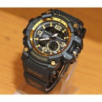JAM TANGAN SPORT PRIA G SHOCK THE DOCTOR GA8143 BLACK GOLD WATERPROOF