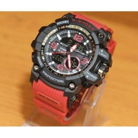 JAM TANGAN SPORT PRIA G SHOCK THE DOCTOR GA8143 STRAP RED WATERPROOF