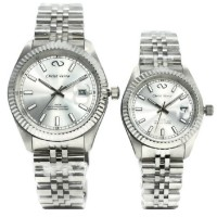 Christ Verra Jam Tangan Couple Silver Stainless Steel 72021G-11&72021L-11