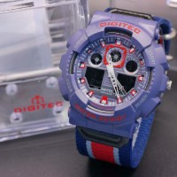 JAM TANGAN PRIA DIGITEC DG2109 KANVAS BLUE DARK ORIGINAL WATERRESIST