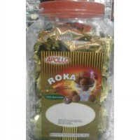 Apolo ROKA Wafer Ball Covered with Nutty Chocolate (Berat Isi Tanpa Toples: 480 Gr / 80 pcs @ 6 Gr)