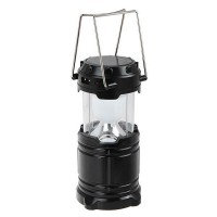 Lampu Camping 6 LED Rechargable Solar Telescopic Bivouac Lantern Portable - Gold
